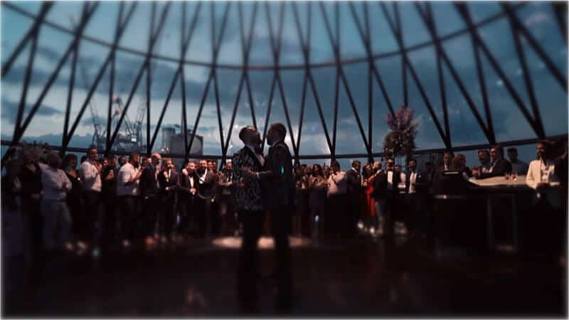 London Gay Wedding – Searcys At The Gherkin